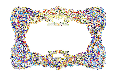 abstract art: The colored abstract art Frame. Stock Photo