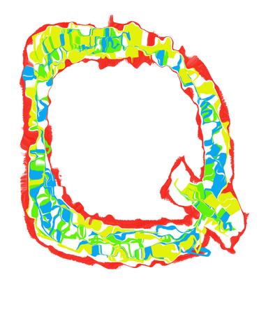 The colored Initials letter Q.