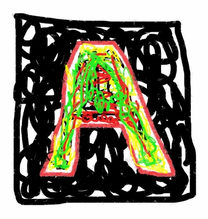 The colored abstract Initials letter A. Stock Photo
