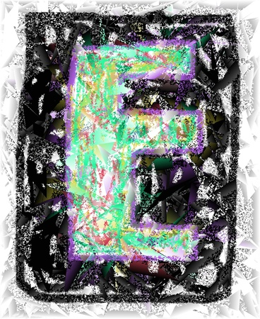 The colored abstract Initials letter E. Stock Photo