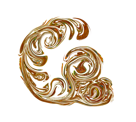 Luxuriously illustrated old capital letter G.