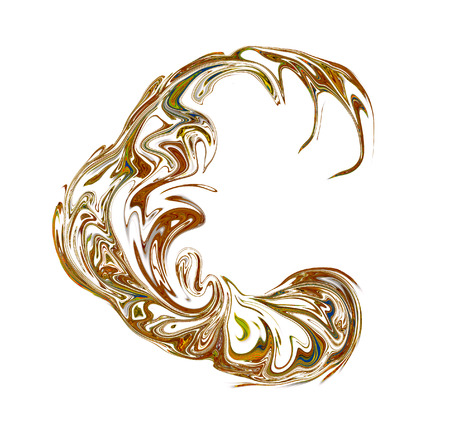 luxuriously: Luxuriously illustrated old capital letter C.