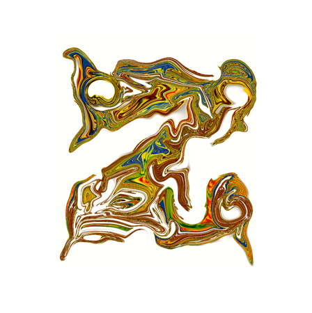luxuriously: Luxuriously illustrated painted letter Z.