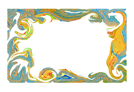 abstract art: The abstract art illustrative Frame. Stock Photo