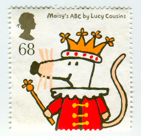 GOMEL, BELARUS, APRIL 10, 2017. Stamp printed in UK shows image of  The Maisys ABC by Lucy Cousins.