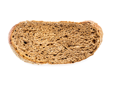 The isolated Dry rye bread. Stock Photo