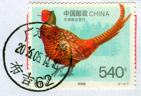 GOMEL, BELARUS, 27 OCTOBER 2017, Stamp printed in China shows image of the Bird, circa 1997.