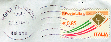 GOMEL, BELARUS, 4 DECEMBER 2017, Stamp printed in Italy shows image of the Postage stamp, circa 2014. Editöryel
