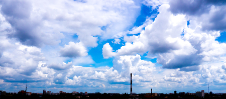 The city outdoor Factory chimneys.