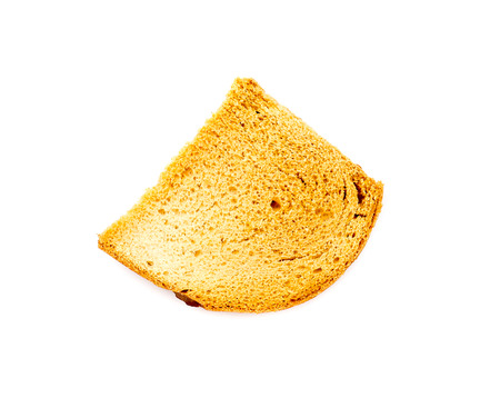 Stale bread isolated.