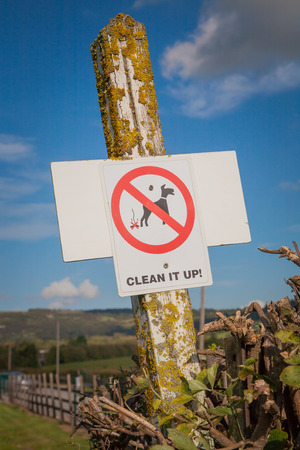 Dog Waste Clean It Up Sign photo