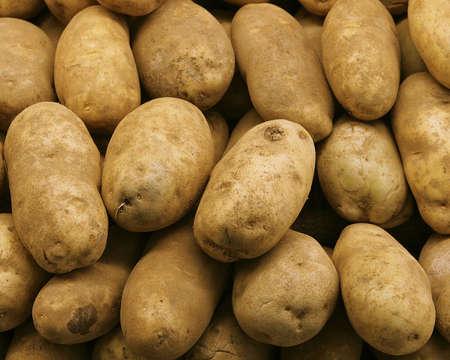 ordelijk: ordelijke potatos Stockfoto