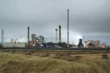 steelworks: Redcar, UK, 13th December 2009 - Corus Steelworks mothballed in 2010 with loss of  thousands of jobs. Editorial