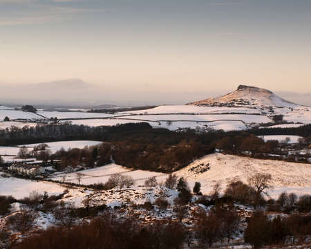 moors: Roseberry Topping at the edge of the North Yorks Moors, UK Stock Photo