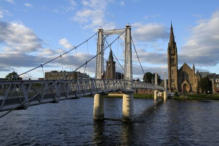 ness river: Inverness Stock Photo