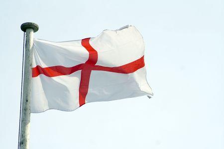English flag against light sky