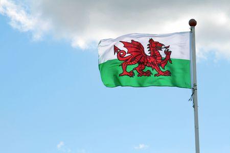 welsh flag: Welsh flag Stock Photo