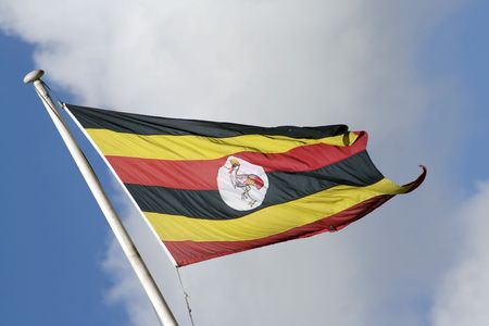 Uganda flag Stock Photo - 7179371