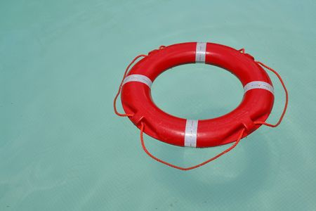 life saving: Life saving water ring Stock Photo