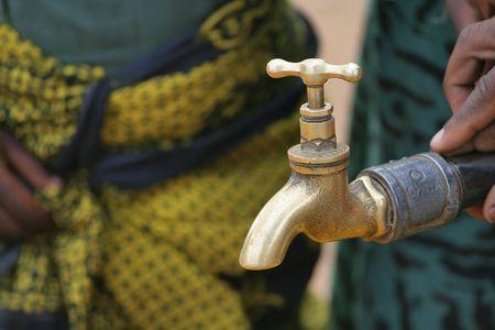 African water supply at rural tap Reklamní fotografie