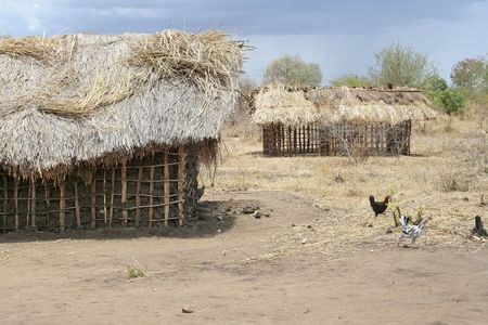Traditional African homes photo