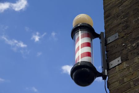 Barbers pole and sky