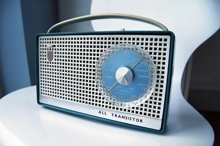 transitor: Radio de transistores retro Foto de archivo