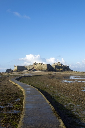 Causeway to castle photo