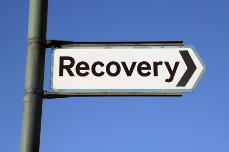 road to recovery: Road to recovery Stock Photo