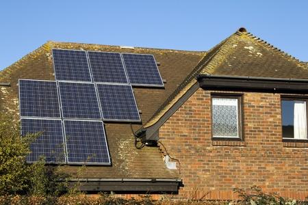 Domestic solar panels photo