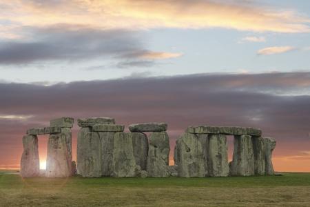 Sun breaks through at Stonehenge Stock Photo - 8991776