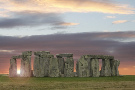 wiltshire: Sun breaks through at Stonehenge