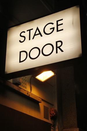 Stage door Stock Photo
