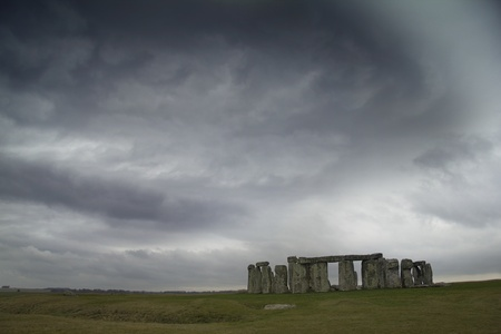 Stonehenge under moody sky
