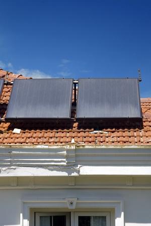 pollution free: Domestic solar panels