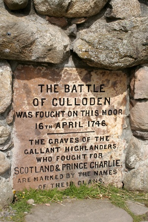 The main memorial at Culloden Moor in Scotland Redakční