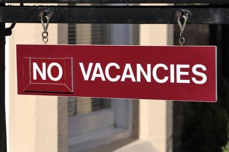 vacancies: No vacancies Stock Photo