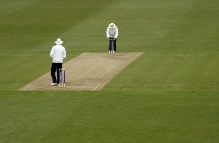 an umpire: Cricket umpires Editorial