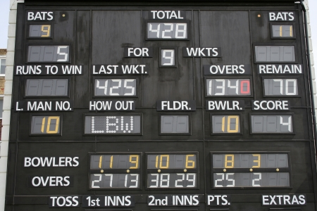 Cricket scoreboard photo