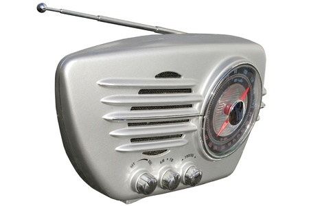 Silver retro radio Stock Photo - 14411642