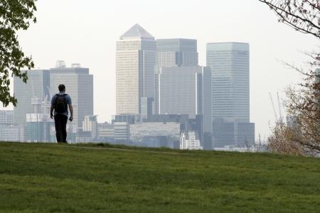 Walker and London skyline