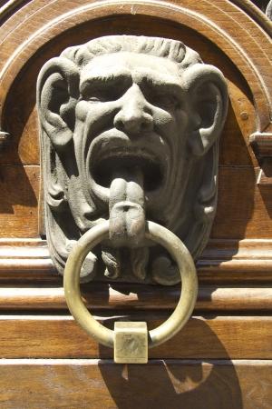 Gargoyle door knocker Stock Photo - 15411359