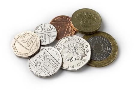 brit: Brit coins Stock Photo