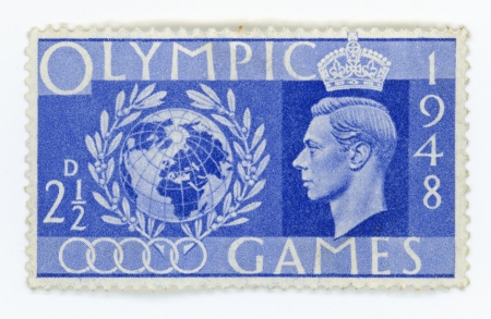 great britain: Vintage stamp - Great Britain Olympic Games