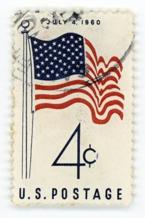 postage stamp: Vintage postage stamp USA Editorial