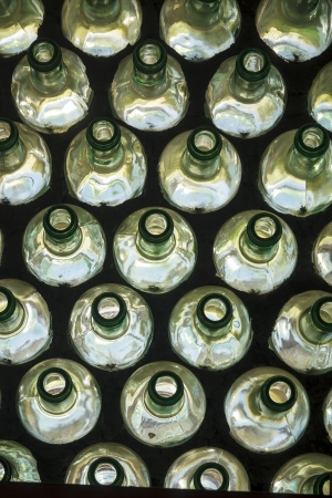 Recycled bottles Stock Photo
