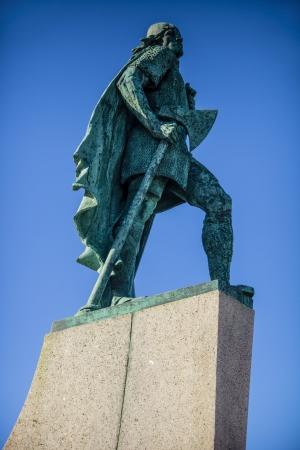 Lief Eriksson statue Islande Banque d'images - 24946501