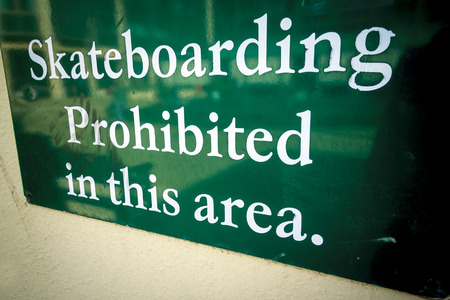No skateboarding photo