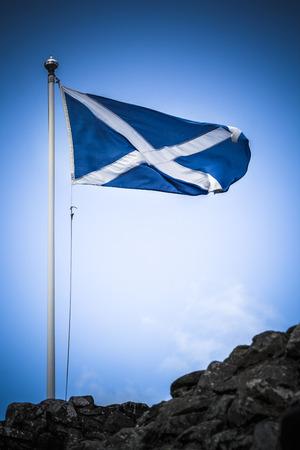 jacobite: Scotland flag Stock Photo