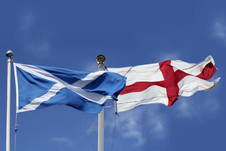 jacobite: Scotland and England flags
